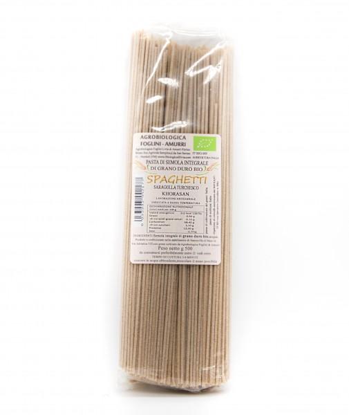 Spaghetti - Pasta aus dem Urweizen Khorosan Saragolla Turchesco (Kamut)