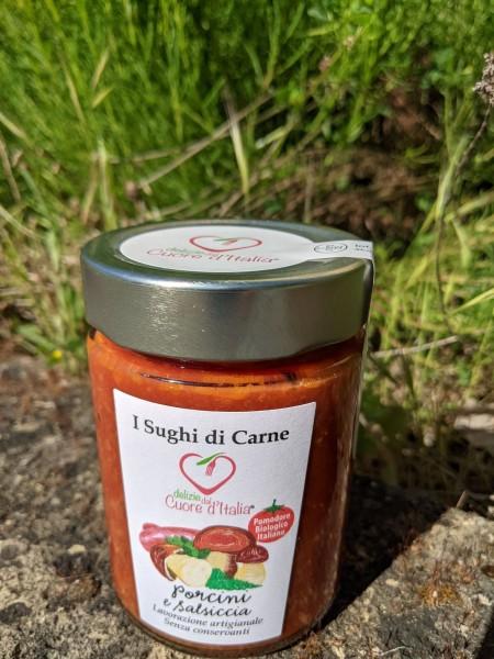 Nudel-Sauce mit Steinpilzen und Salsiccia