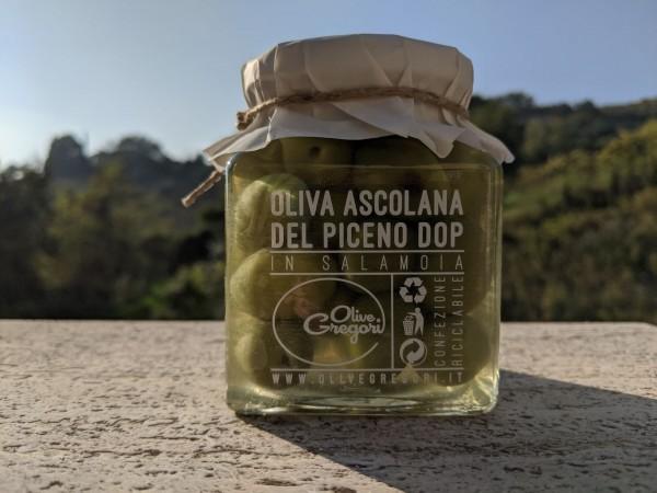 Olive Ascolane im kleinen Glas von Stefano