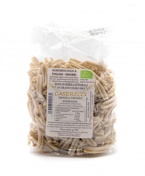 Caserecci - Pasta aus dem Urweizen Khorosan Saragolla