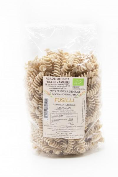 Fusilli - Pasta aus dem Urweizen Khorosan Saragolla Turchesco (Kamut)