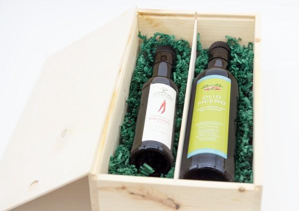 Olivenöl Geschenk-Holzkiste